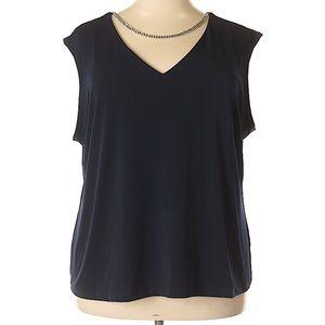 Calvin Klein 3X Plus Sleeveless Top V-Neckline